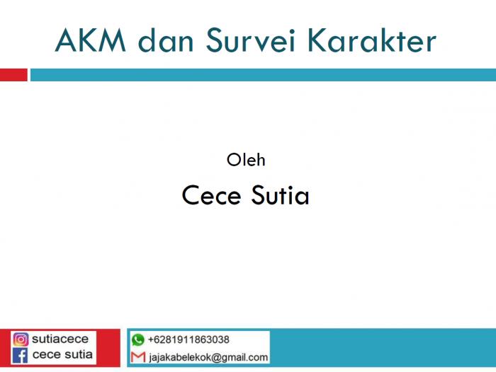 Literasi Digital AKM dan Survei Karakter
